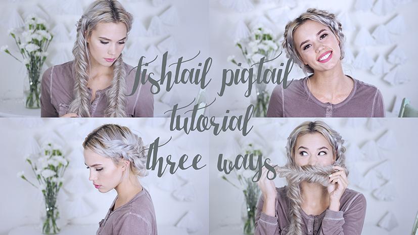 Dutch Fishtail Tutorial styled three ways!