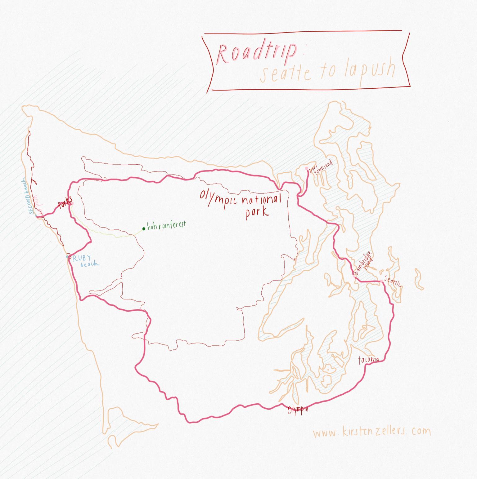 Roadtrip guide: Seattle to La Push WA