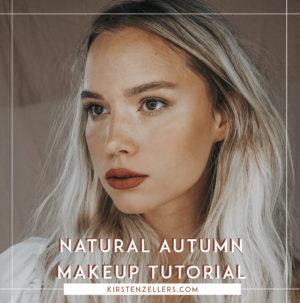 natural autumn makeup tutorial / kirsten zellers