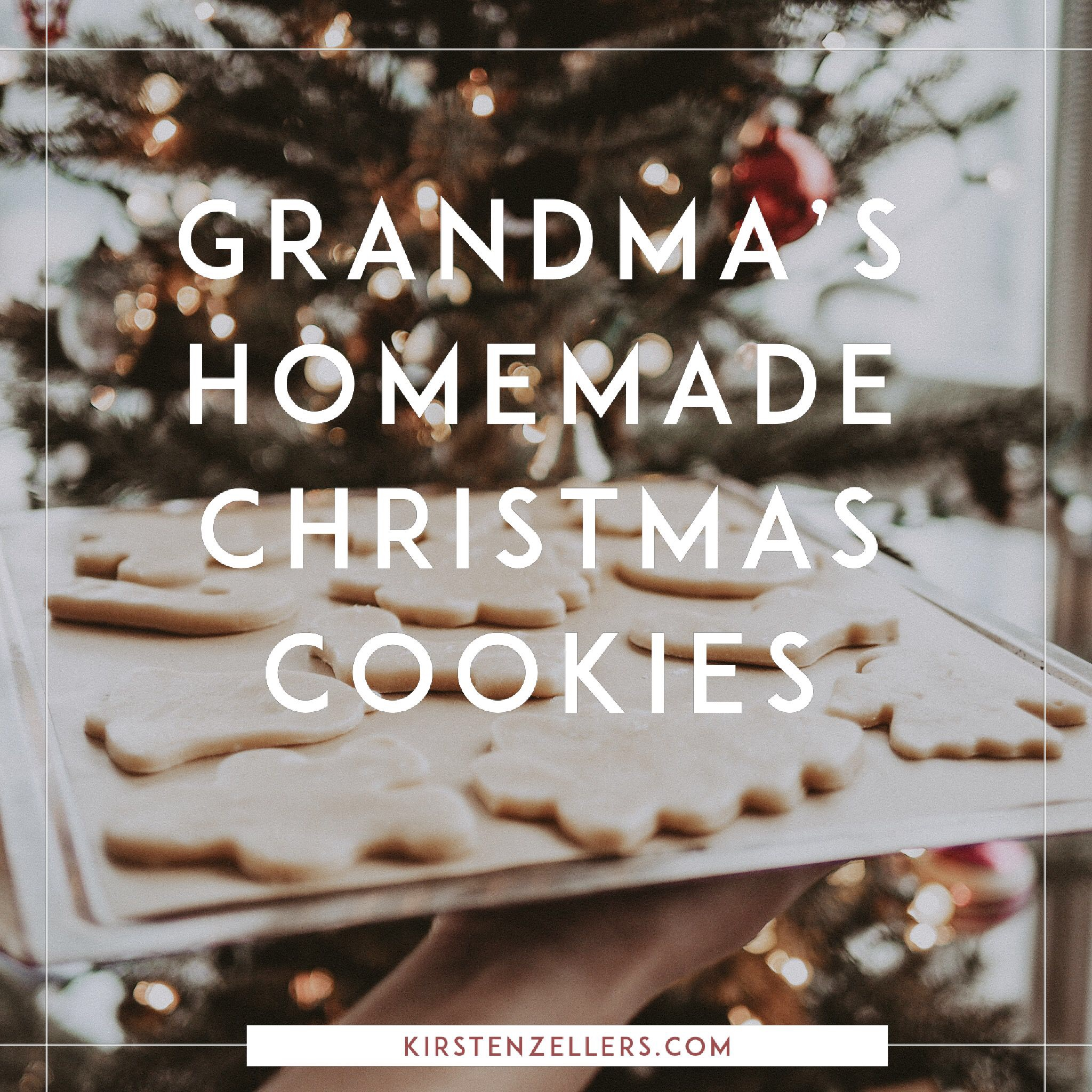 Best homemade sugar cookie Christmas cookie recipe